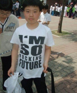Asian kids have really good taste in t-shirts.